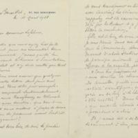 Lettre de Georges Chavanne à Charles Lefébure