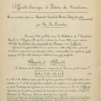 De DONDER Charles, « Affinité chimique et Vitesse de Réaction. Communication faite au Deuxième Conseil de Chimie Solvay (Bruxelles, 16 au 23 avril 1925) »