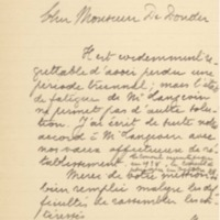 Lettre de Charles Lefébure à Théophile de Donder