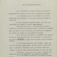 Lettre de Charles Lefébure à Georges Chavanne