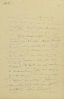 Lettre d'Ernest Solvay à Robert Goldschmidt + retranscription dactylographiée