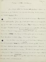 Note d'Ernest Solvay «à propos de la lettre de Mr Brillouin »