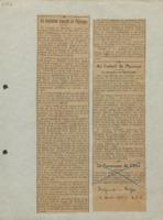 « Le troisième Conseil de Physique », dans l'Indépendance Belge, 6 avril 1921 (coupure de presse)