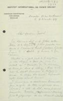 Lettre de Georges Chavanne à Émile Tassel
