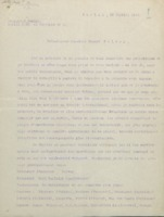 Lettre de Walther Nernst à Ernest Solvay, 26 juillet 1910 + en annexe : « Invitation à un Concile scientifique international pour élucider quelques questions d'actualité de la théorie cinétique » (traduction)