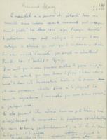 Lettre d'Armand Solvay à Octave Dony-Henault