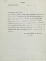 Lettre d'Ernst Ruska à Arnold Sommerfeld