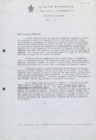 Lettre d'Eliezer Gileadi Joshua Jortner et Edward Malcolm Kosower à Gosta Wranglen