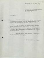 Lettre de Raymond Defay à Émile Henriot