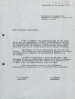 Lettre de Félix Leblanc et Ilya Prigogine à Lev Arzimovitch