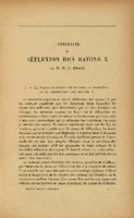 Extrait de BRAGG William Lawrence, «L'intensité de réflexion des Rayons X » dans Institut international de physique Solvay (1928). <em>Electrons et photons: rapports et discussions du cinquième Conseil de physique tenu à Bruxelles du 24 au 29 octobre 1927.</em> Paris: Gauthier-Villars et cie.