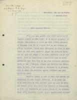 Lettre d'Émile Tassel à Albin Haller