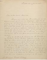 Lettre d'Hendrik  Lorentz à Ernest Solvay,  4 janvier 1912