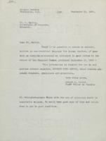 Lettre de Robert D. Potter à Ladislas Marton