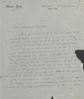 Lettre d'Hendrik Lorentz à Charles Lefébure