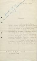 Lettre de Jeanne Cornet à « Messieurs les Membres du Conseil de chimie Solvay »