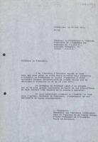 Lettre d'Ilya Prigogine à Mstislav Keldich (Keldych)