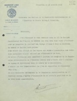 Lettre d'Alice Lacourt à la Commission administrative de l'Institut international de chimie Solvay