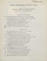 Liste des invités au sixième Conseil de chimie Solvay (envoi des volumes)