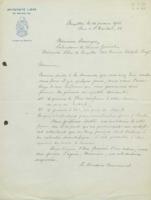 Lettre signée « le Directeur Commercial » à Robert Descamps