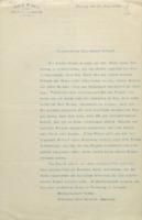 Lettre de Walther Nernst à Ernest Solvay, 26 juillet 1910 +  en annexe : «  Einladung zu einem Concile scientifique internationale (sic) pour élucider quelques questions d'actualité de la théorie cinétique » (originale)