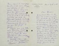 Lettre de Marcel Brillouin à Ernest Solvay