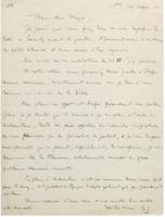Lettre d'Ernest Solvay à Paul Héger