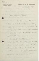 Lettre d'Émile Tassel à Ernest Solvay