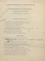 Invitation au septième Conseil de physique Solvay : Épreuves