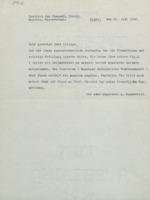 Lettre d'Arnold Sommerfeld