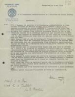 Lettre d'Henri Wuyts « à la Commission administrative de l'Institut de Chimie Solvay »