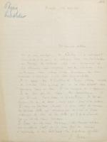Lettre d'Émile Henriot à Charles Lefébure