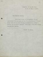 Lettre d'Ernest Solvay à Hendrik Lorentz au sujet du télégramme envoyé le 18 août 1912