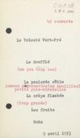 Banquet : menu n°2, neuvième Conseil de chimie Solvay