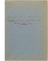« Rapport présenté à Messieurs les Membres de la Commission administrative de l'Institut International de Chimie Solvay : Sur la réalisation d'un appareil nouveau pour la mesure de la dispersion rotatoire de l'ultra-violet »