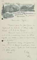Lettre d'Ernest Solvay à Émile Tassel