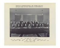 Septième Conseil de chimie Solvay, photographie de groupe