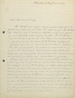 Lettre d'Hendrik Lorentz à Ernest Solvay
