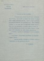 Lettre de Marcel Brillouin à Hendrik Lorentz