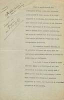 « Toast au Banquet du 8 oct 1937 », sixième Conseil de chimie Solvay